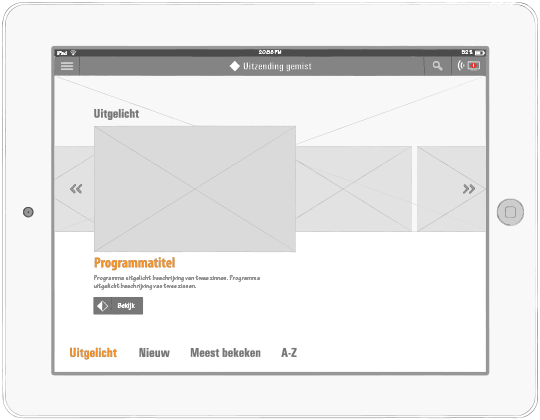 Wireframe NPO Home